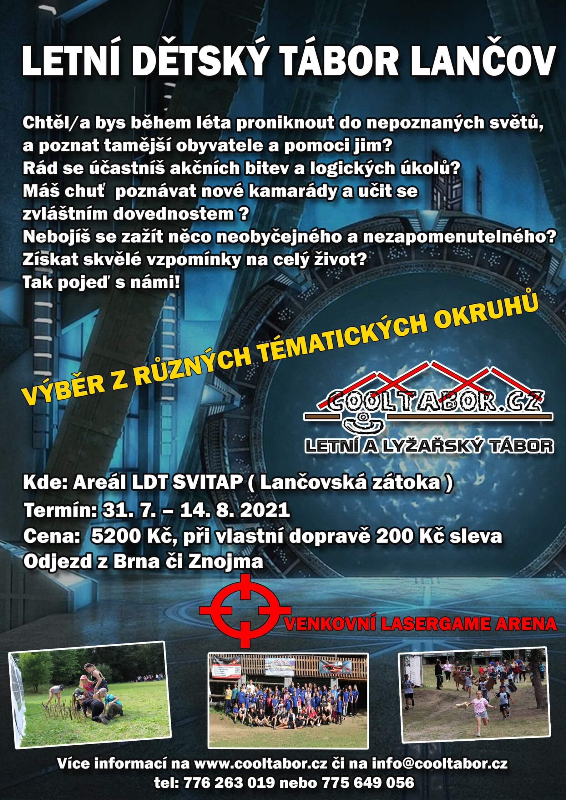 Spuštěny přihlášky na letní tábor 2021 v Lančovské zátoce.